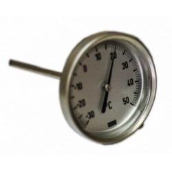 Thermomètre à cadran + doigt de gant 200 mm sur bride ovale