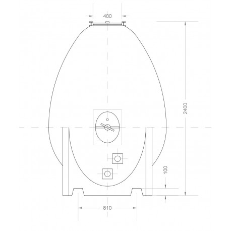Cuve ovoïde de 9 HL modèle l'Authentique